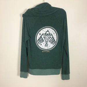 Spiritual Gangster Green Warrior Zip Up Sweatshirt